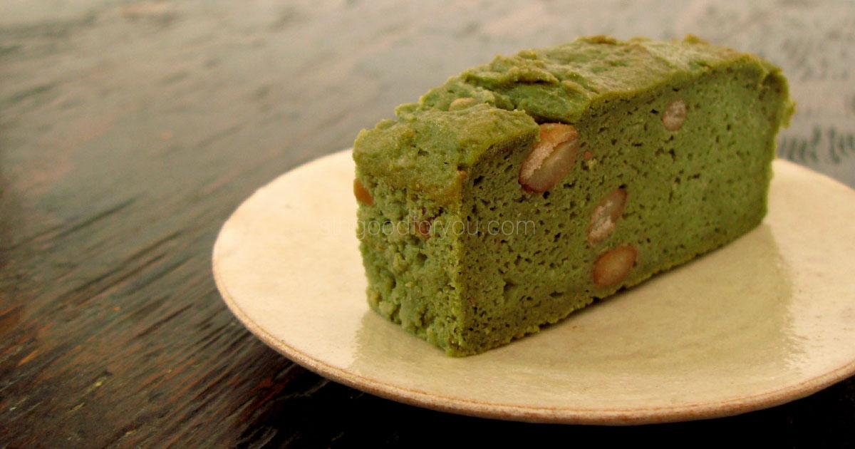 とら豆とヨモギのパウンドケーキ