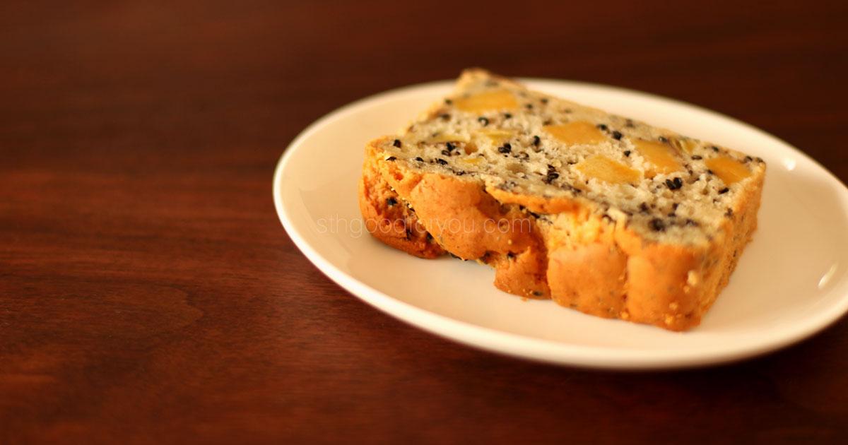 安納芋と黒ゴマのケーキ